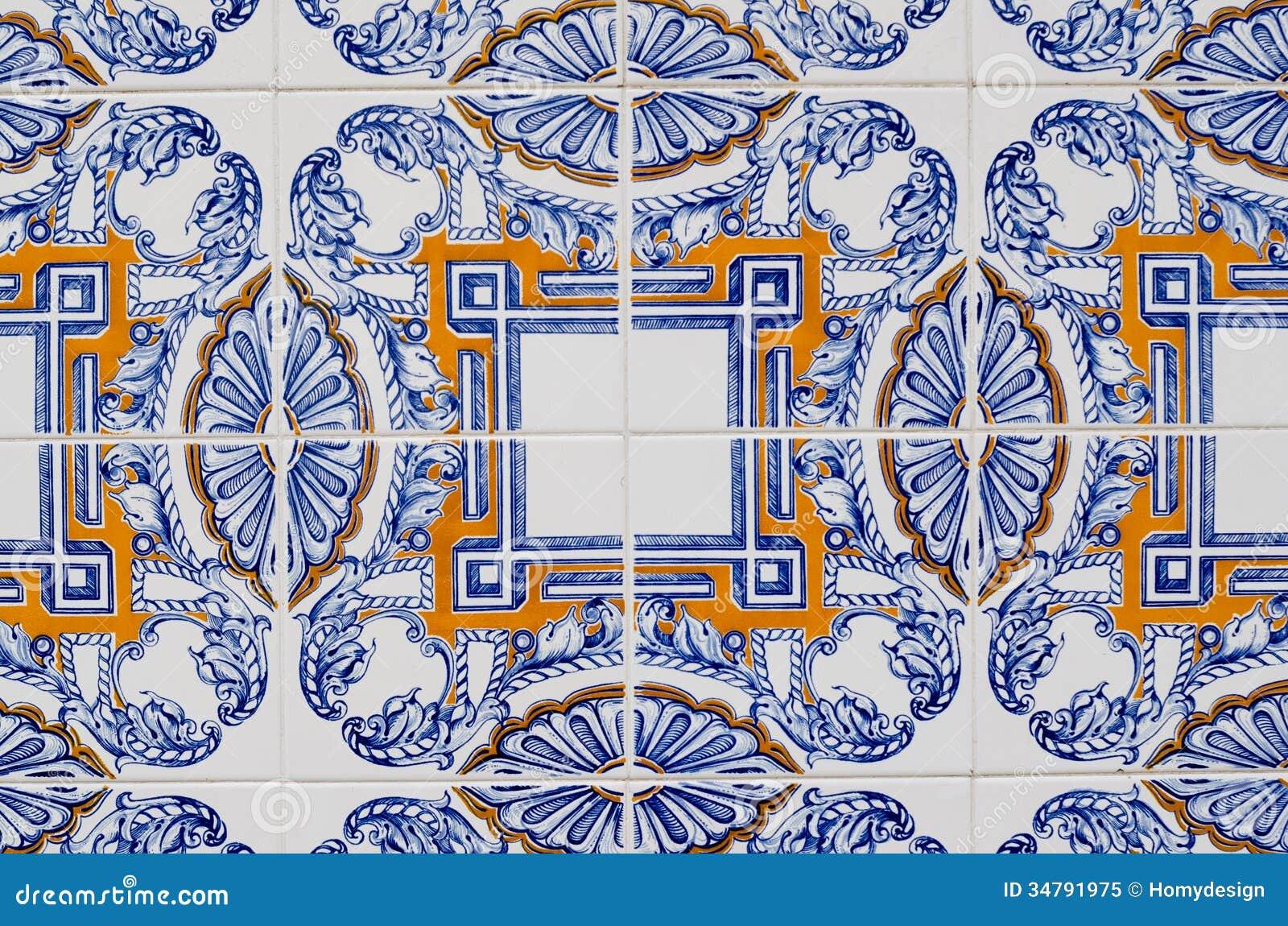 Vintage spanish tiles royalty free stock photo image 34791975