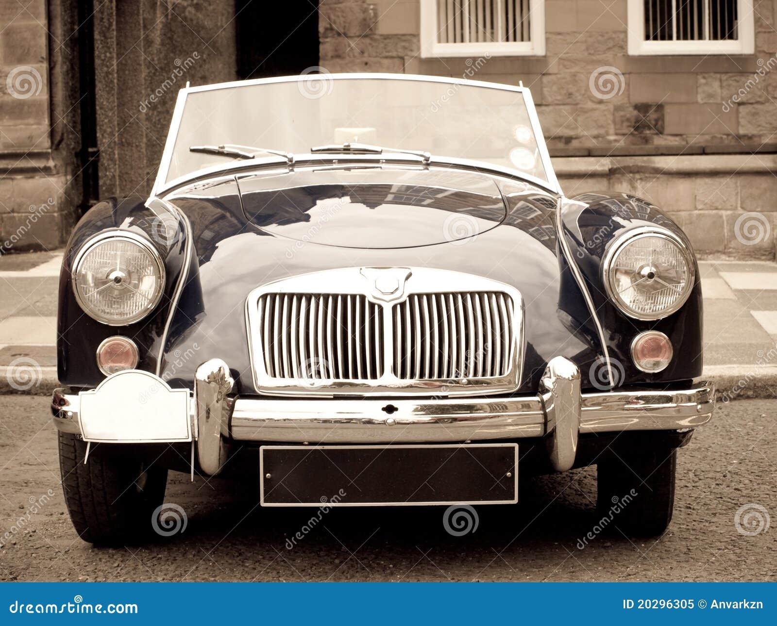 Vintage sport car on a car show.