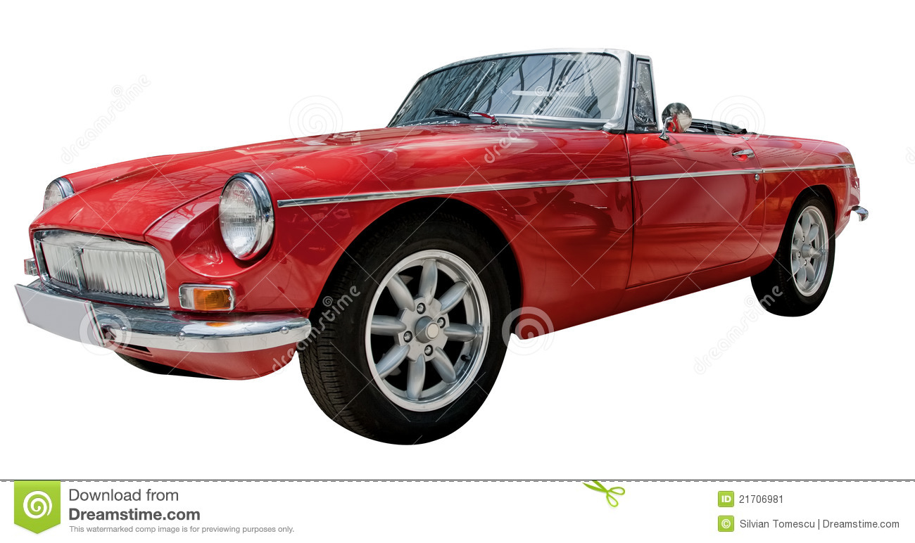 Vintage Sport Convertible Classic Car Isolated Stock Image  Image