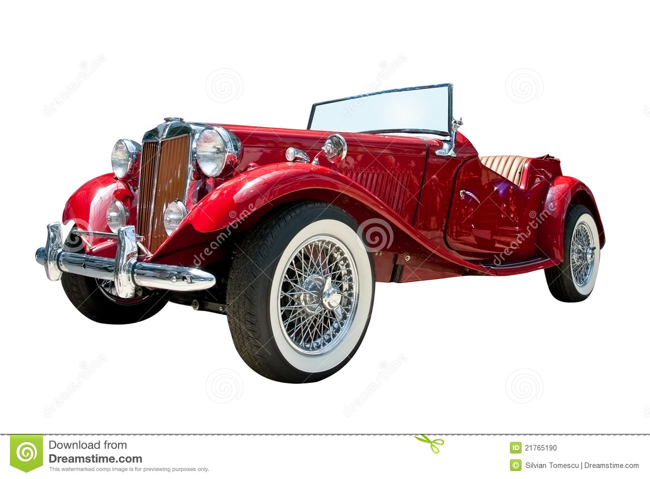 vintage sport retro convertible car isolated stock photo image of history path 21765190. Black Bedroom Furniture Sets. Home Design Ideas