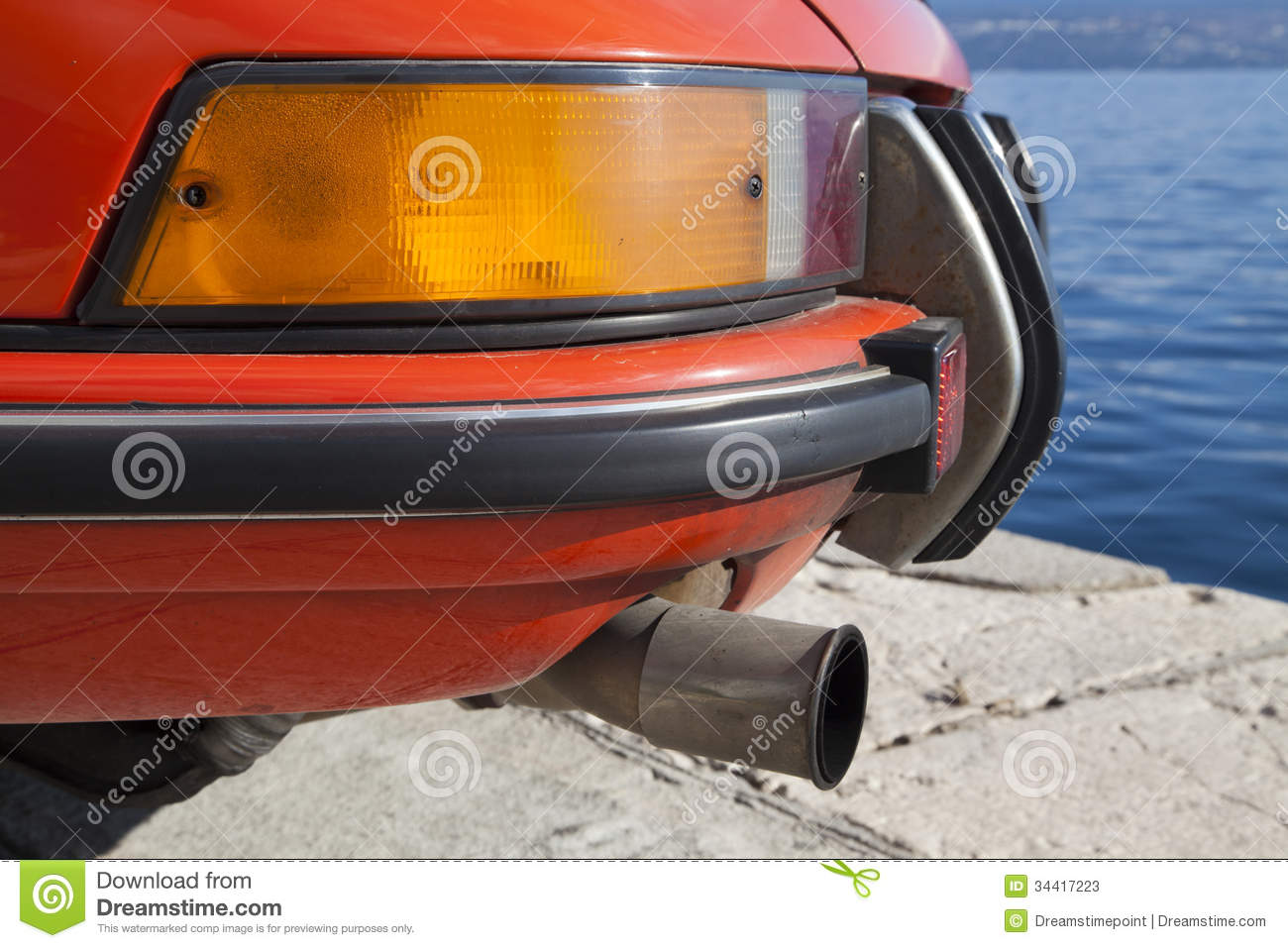 Vintage Sports Car Back Details Stock Photos  Image: 34417223