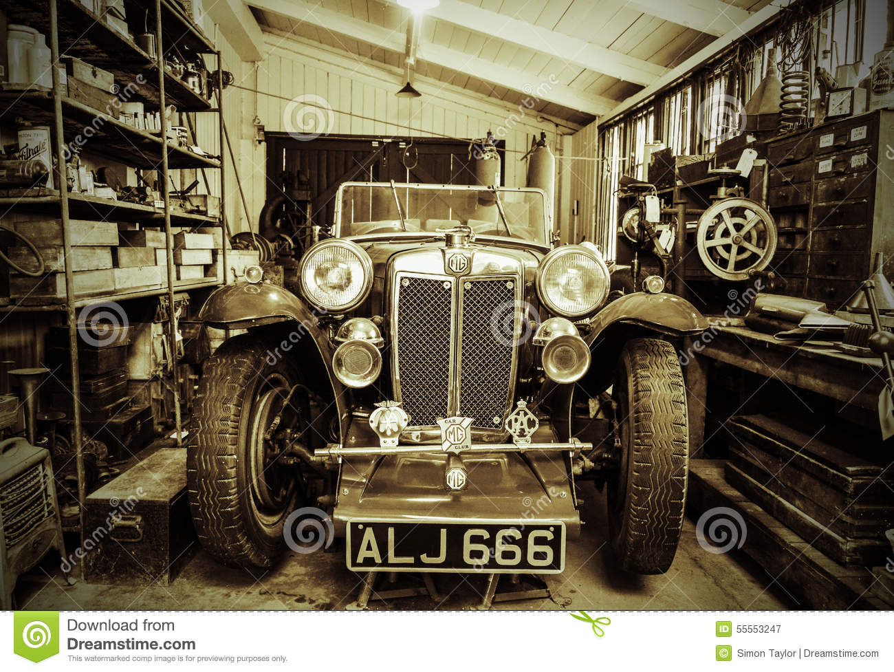 Vintage Sports Car Editorial Photography Image 55553247