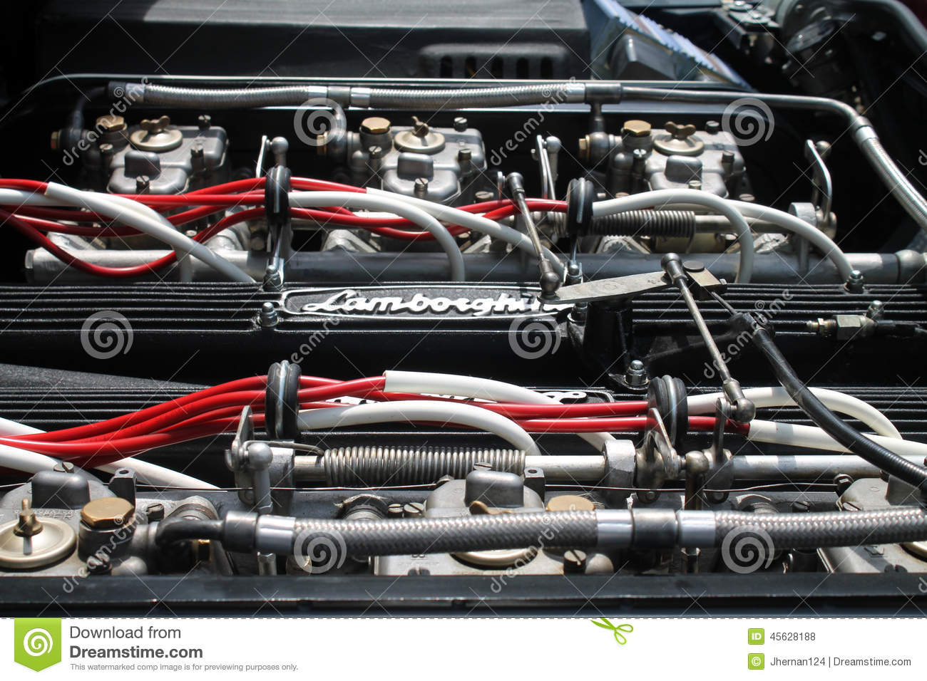 Vintage Sports Car Engine Bay View Editorial Stock Photo  Image