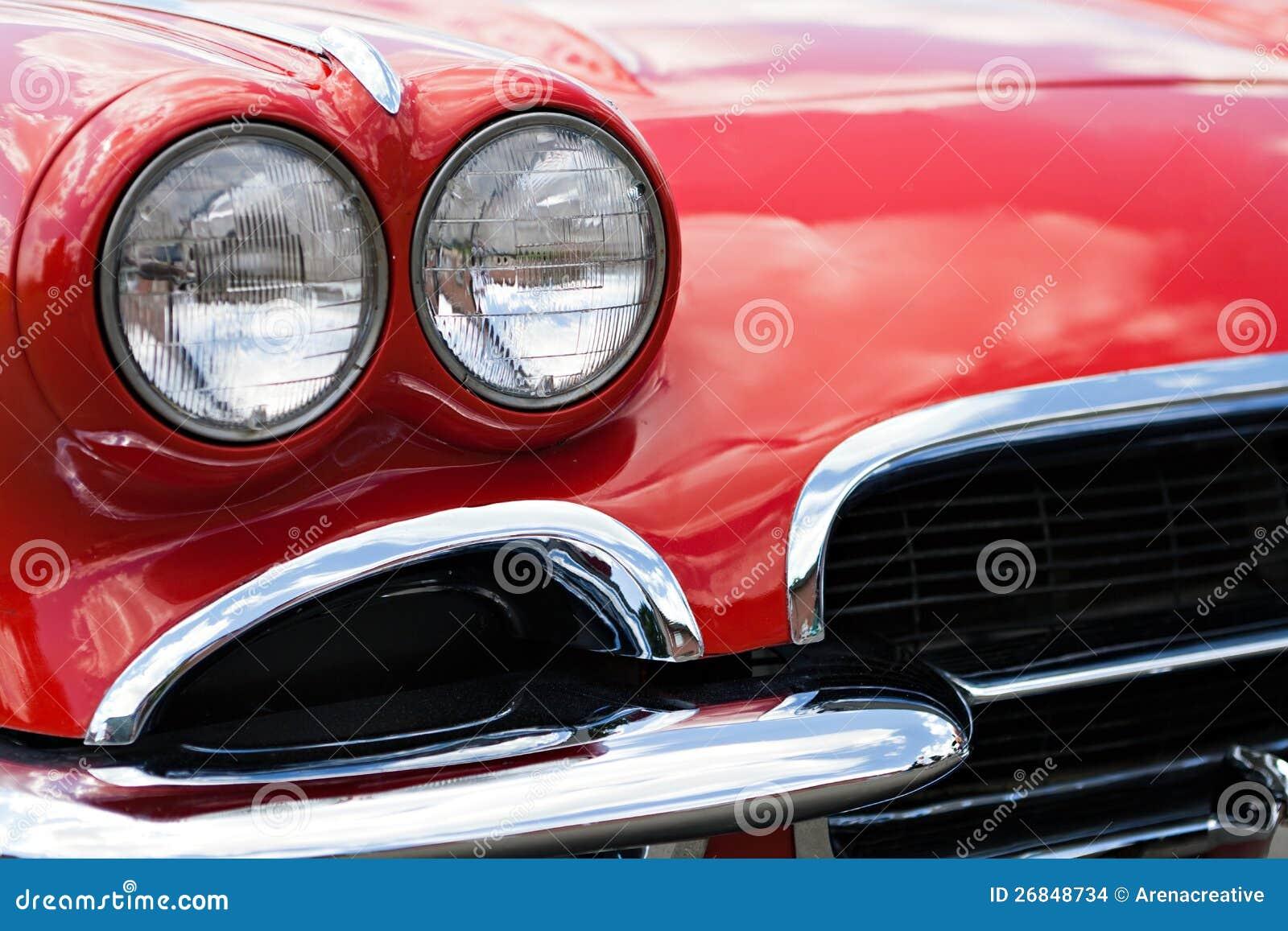 Old Car Headlights : Vintage sports car headlights stock photo image