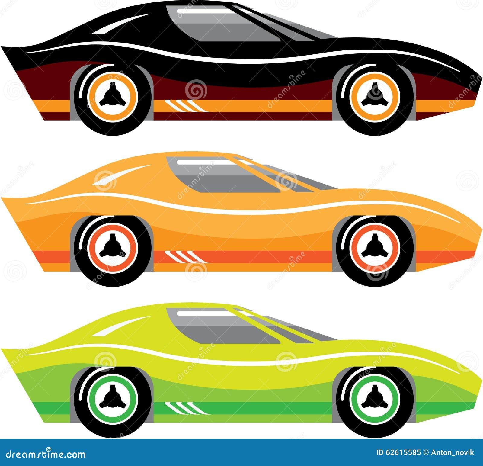 Vintage Sports Car Simple Basic Vector Illustration - Simple sports car