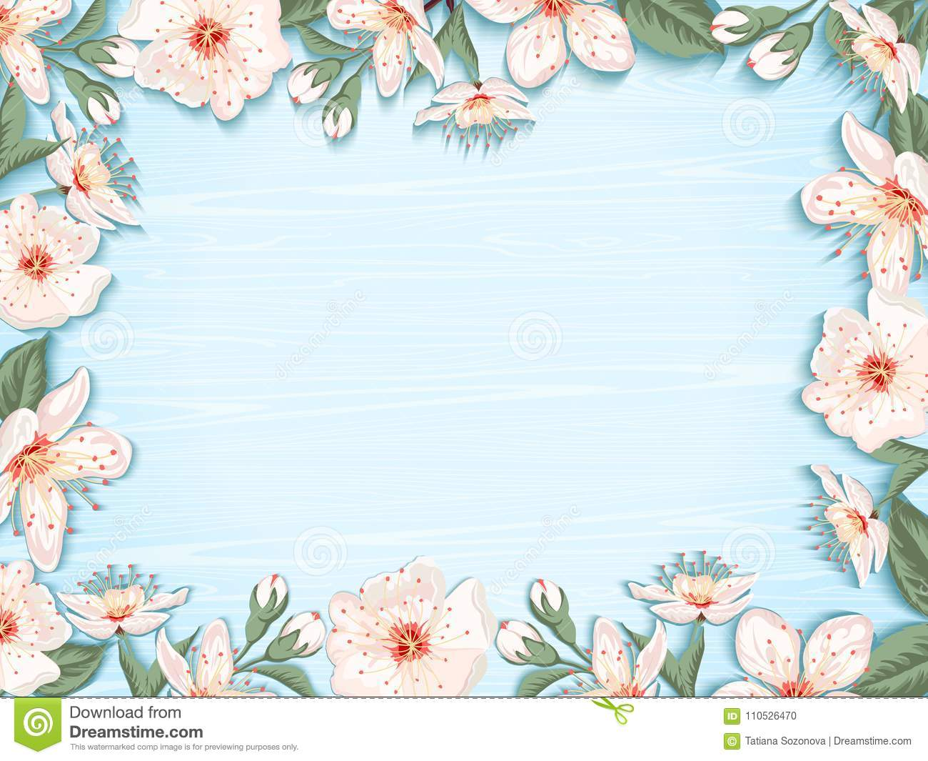 Spring Floral Background Stock Vector Illustration Of Birthday