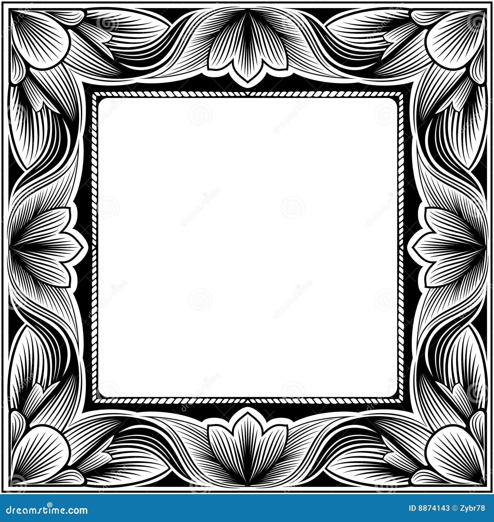 Vintage square frame stock vector. Illustration of pattern - 8874143