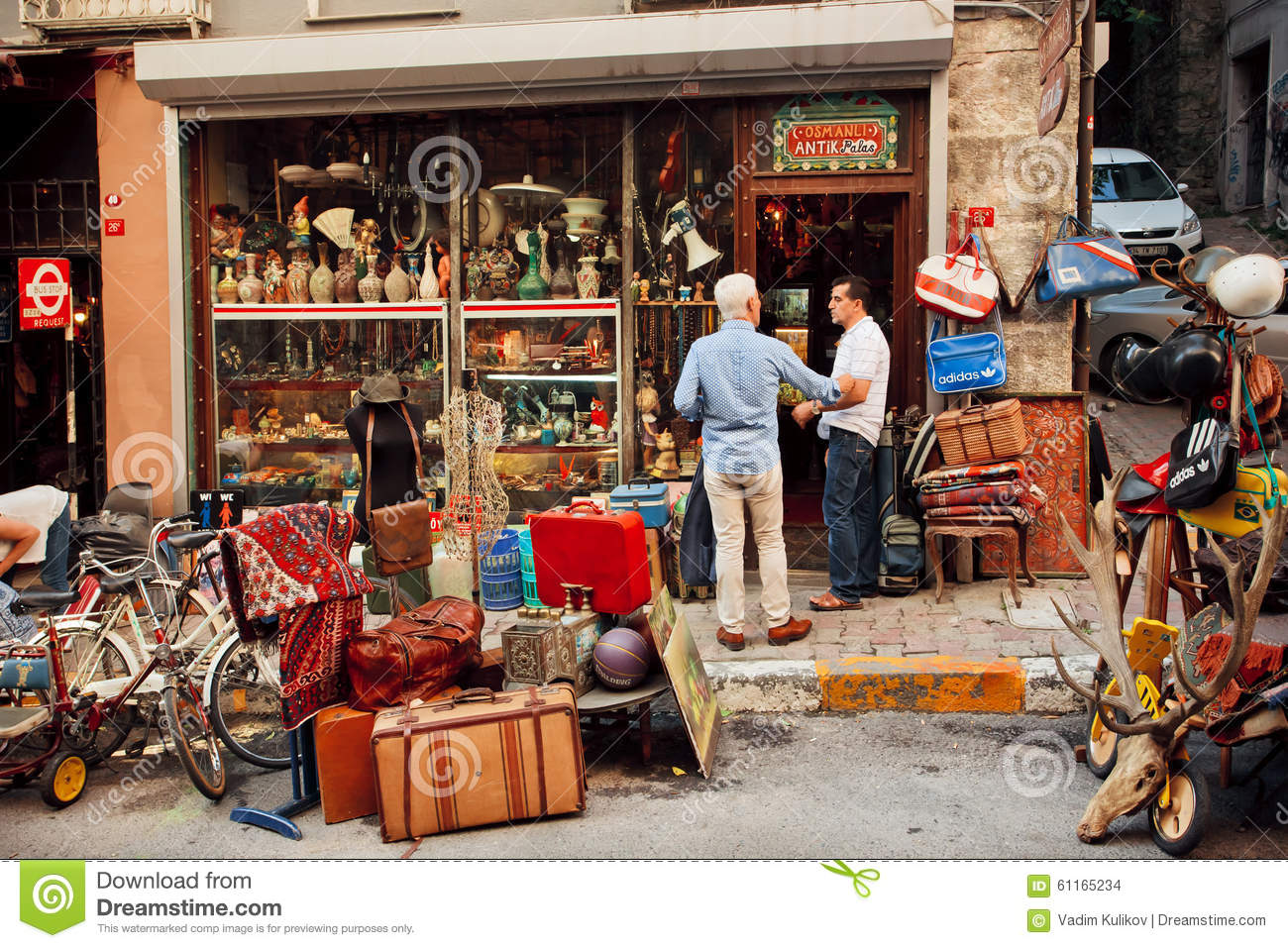 2Nd Hand Furniture Store vintage staff traders meeting near the second hand furniture store