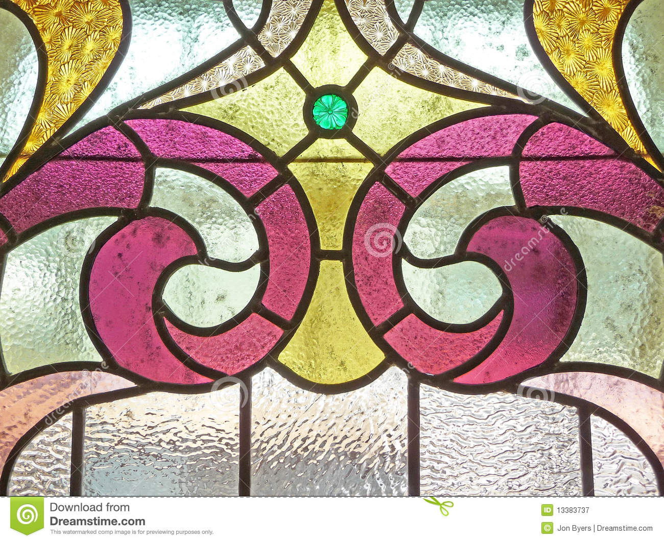 Vintage Stained Glass Background Stock Image