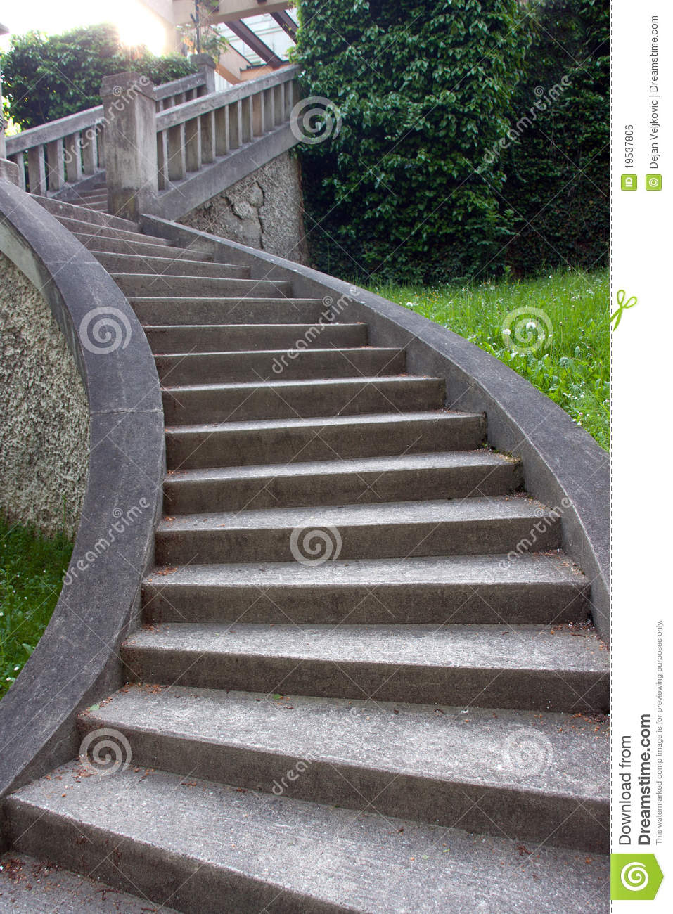 Vintage stairs of stone stock photo. Image of home, column