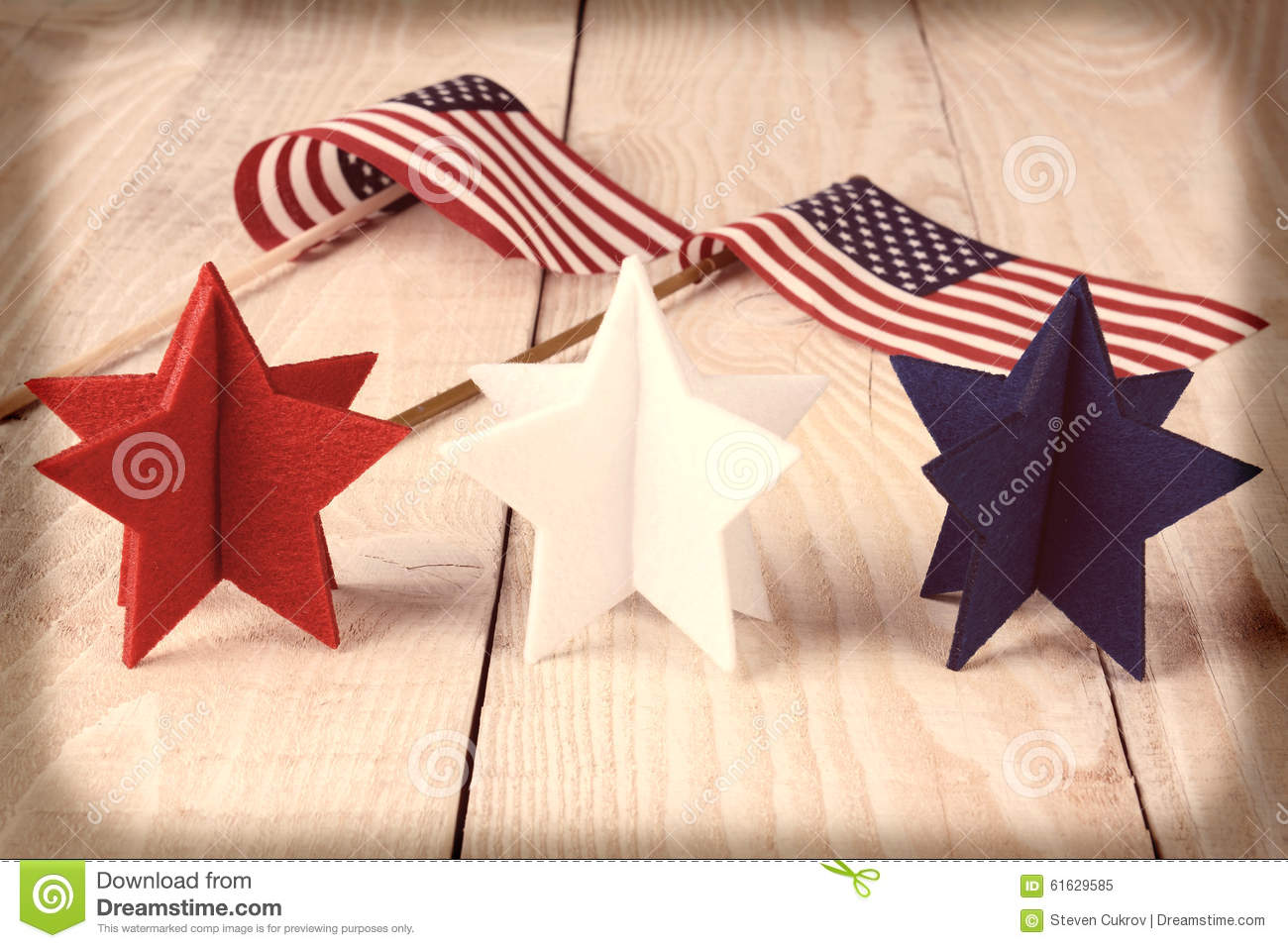 Vintage Stars and Flags stock image. Image of blue ...