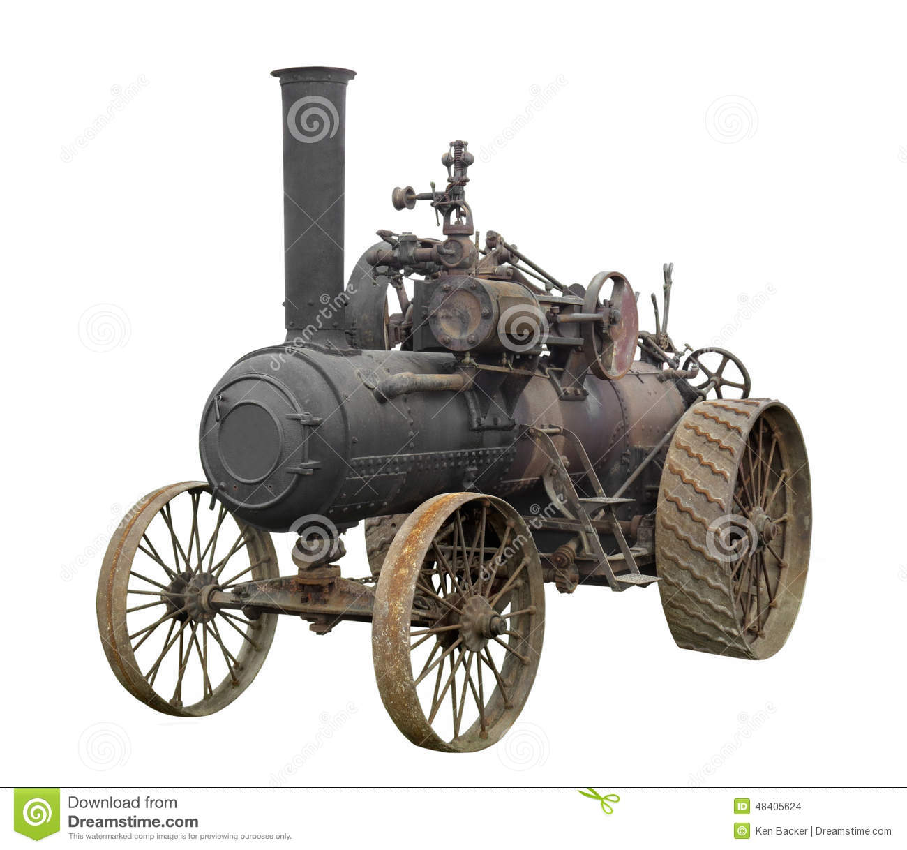 Tractor Supply Motor : Vintage steam engine tractor isolated stock photo image