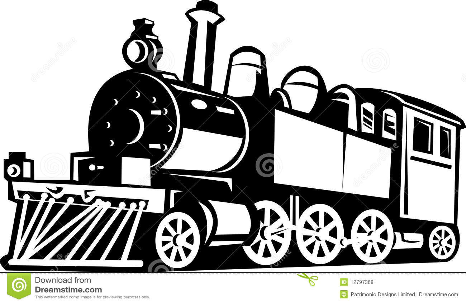 vintage steam train locomotive stock vector illustration locomotive clipart free locomotive clip art side
