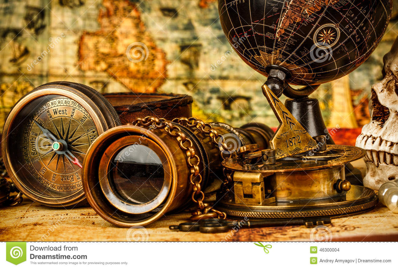 Vintage Still Life Stock Photo Image Of Abstract Pirate
