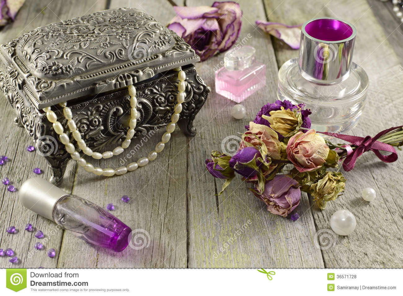 Download Vintage Still Life With Lilac Fragrances Stock Photo - Image of flowers, fragrance: 36571728