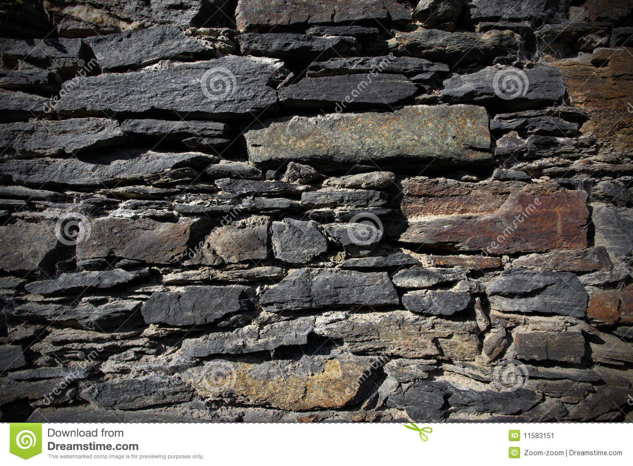 Vintage Stone Walls : Vintage stone wall stock image of structure detail