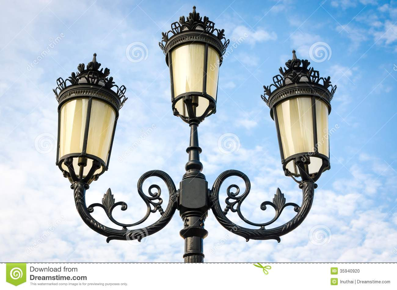 vintage street lamp post stock photo image of exterior 35940920