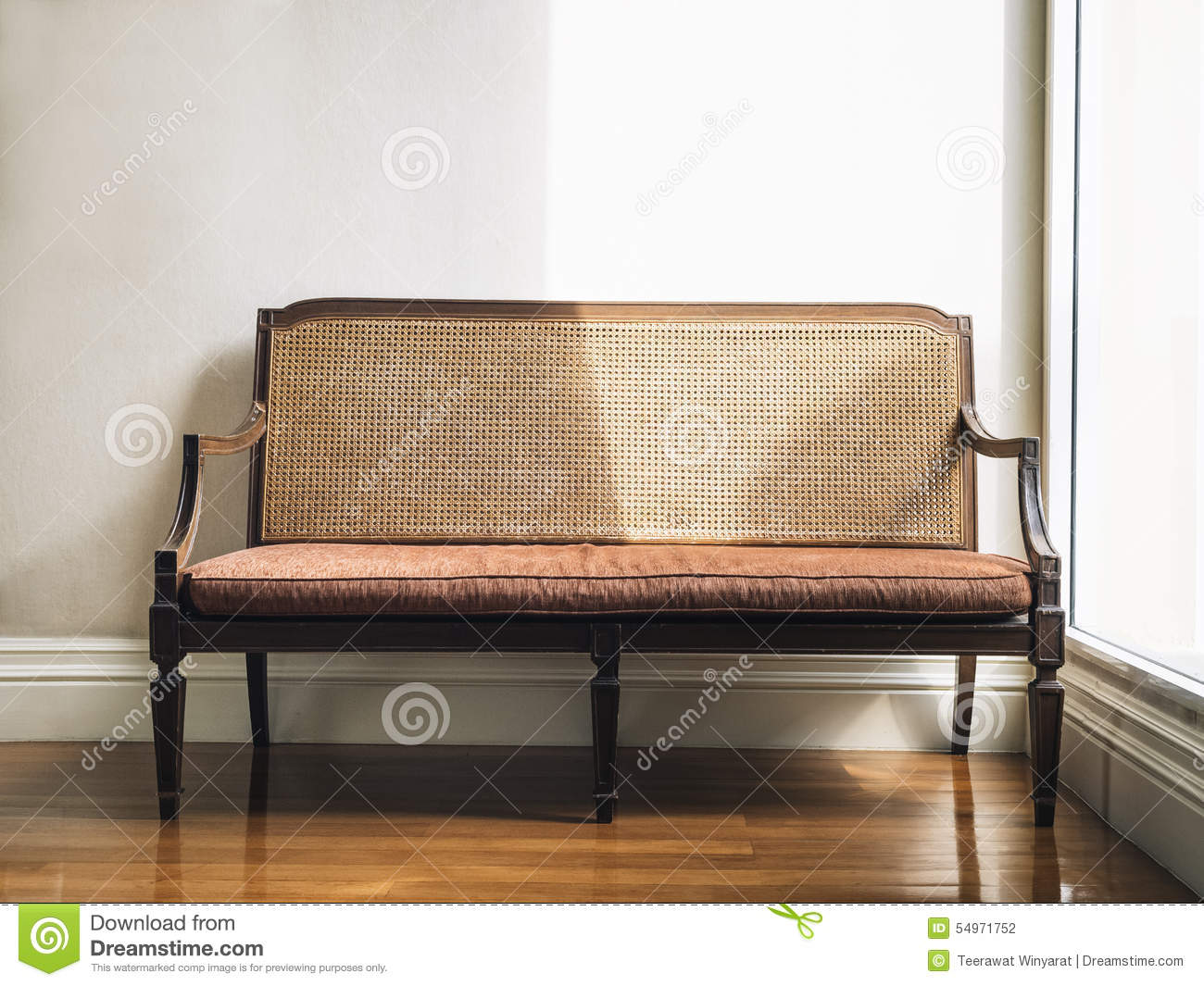 Vintage style bench home furniture decoration stock photo for Deco maison retro