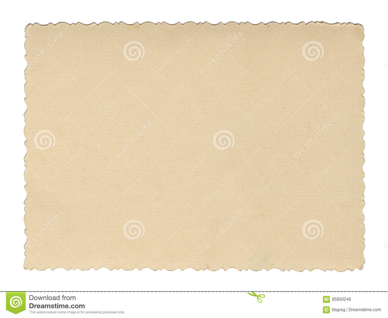 Vintage style brown old paper texture or background, with uneven torn edges
