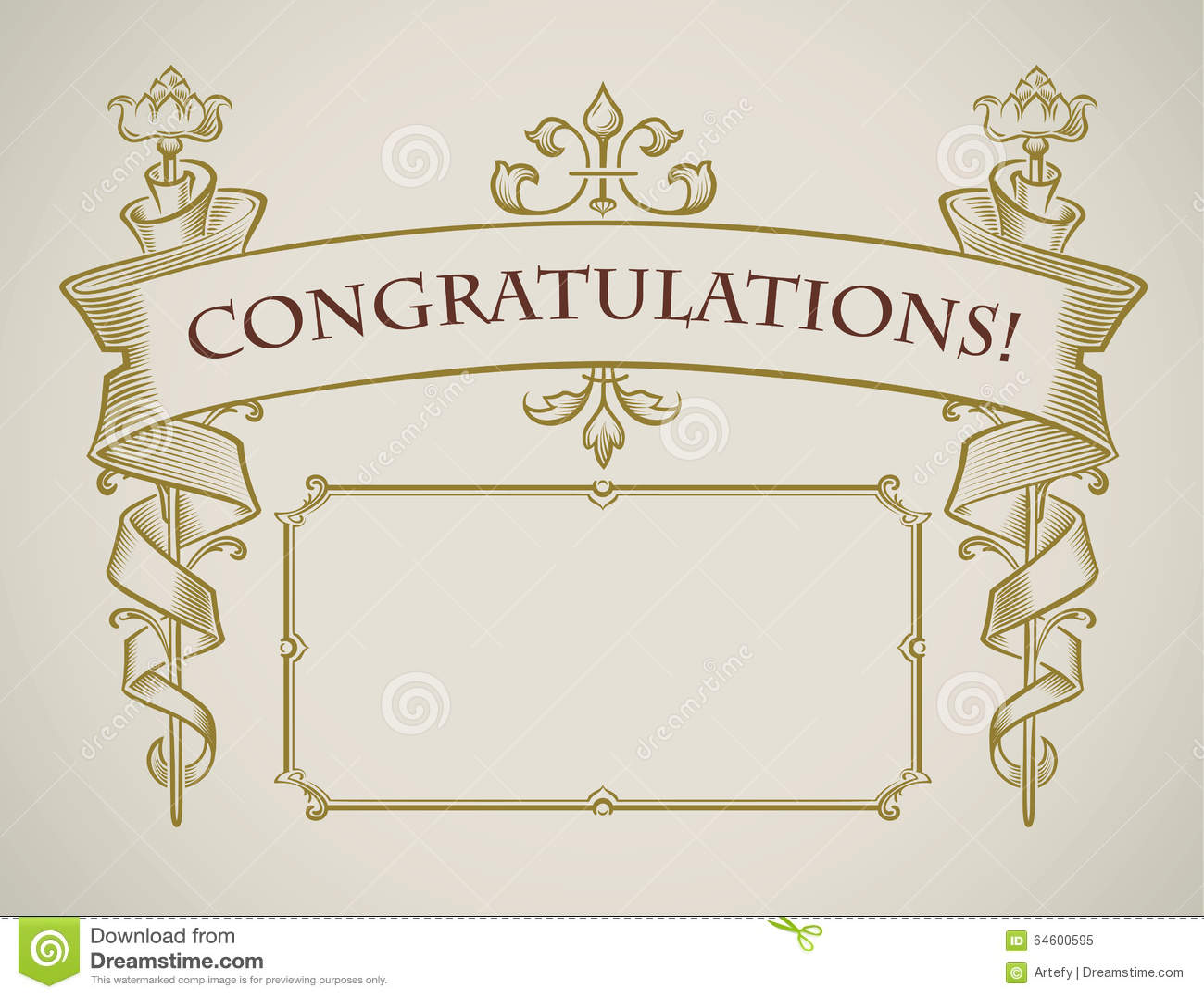 Vintage Style Congratulation Card Stock Vector - Image ...