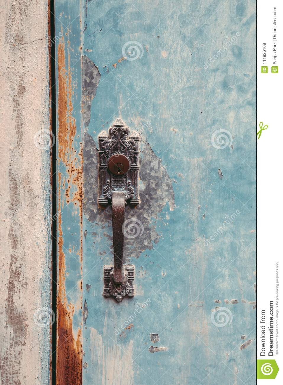 Vintage Style Door And Knob Stock Photo Image Of Abstract Closed
