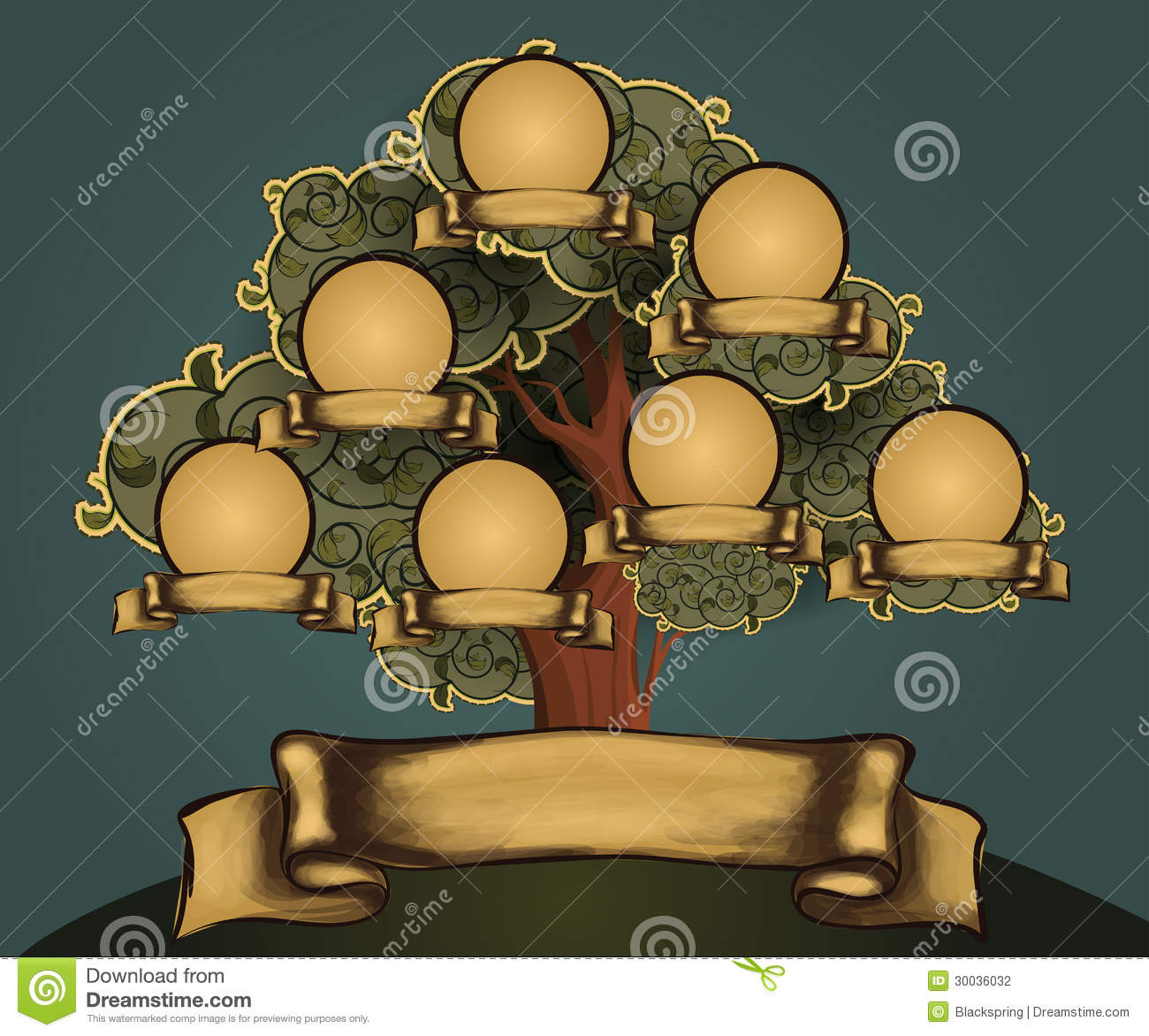 Superb Vector Family Tree With Frames And Leafs Royalty Free Stock Image Largest Home Design Picture Inspirations Pitcheantrous