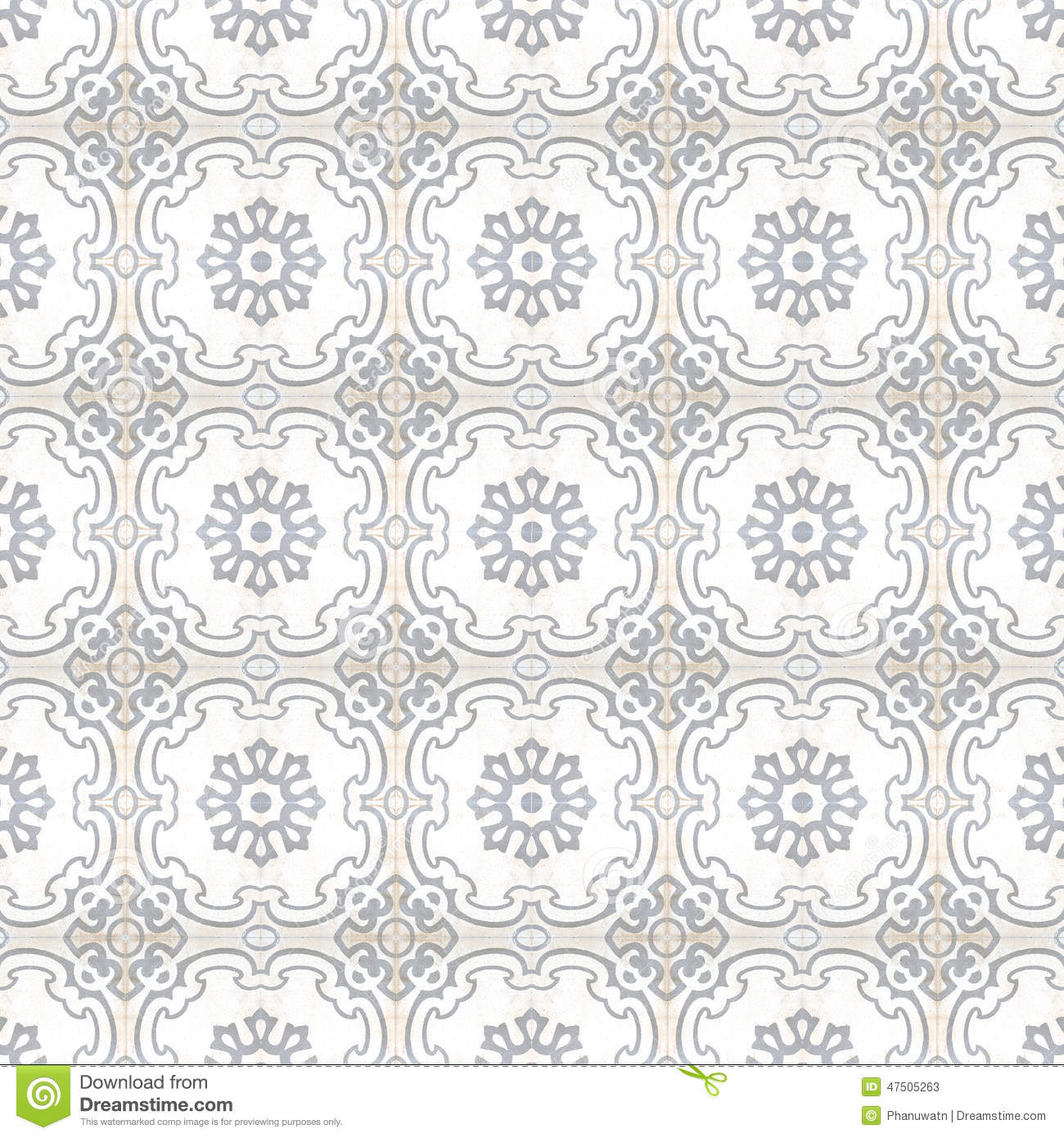 Vintage Style Floor Tile Pattern Texture Stock Photo