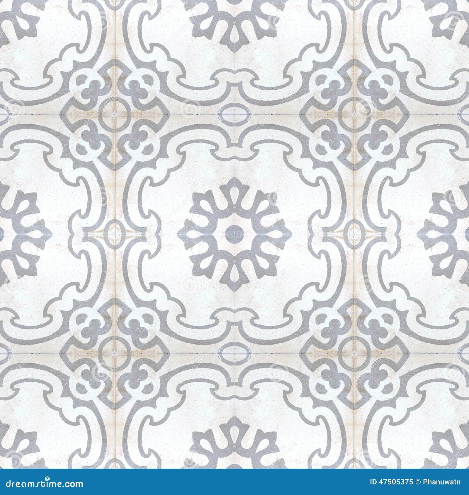 Vintage Style Floor Tile Pattern Texture Stock Image