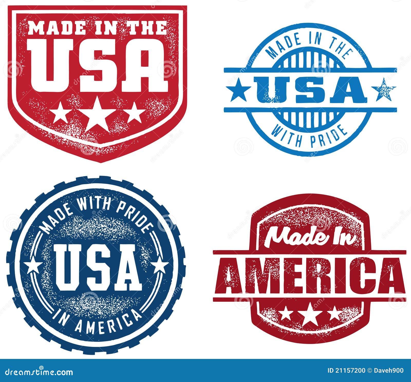 vintage style made in usa stamps stock vector illustration of america export 21157200. Black Bedroom Furniture Sets. Home Design Ideas