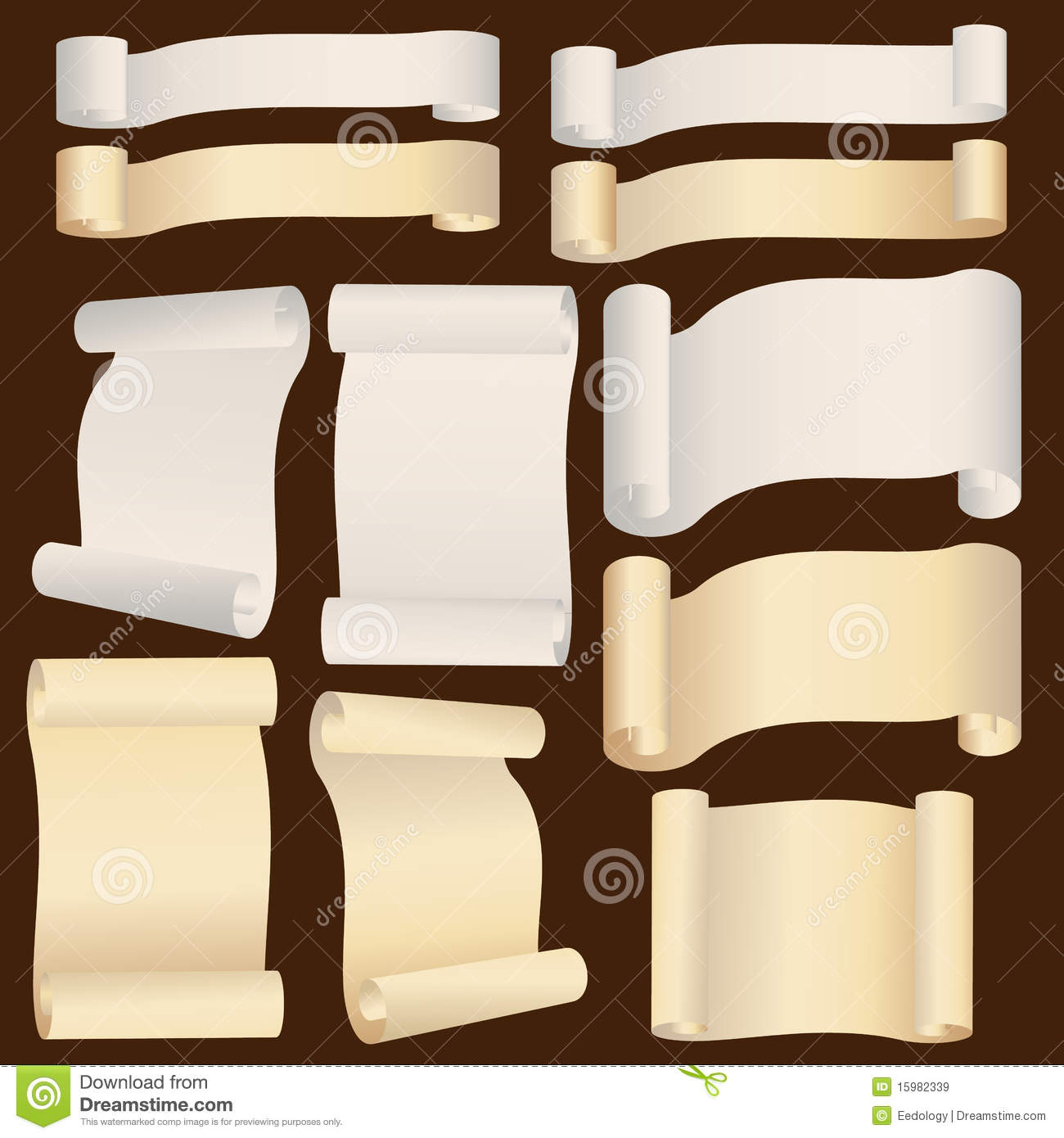 Vintage Style Old Paper Banner Royalty Free Stock Images - Image ...