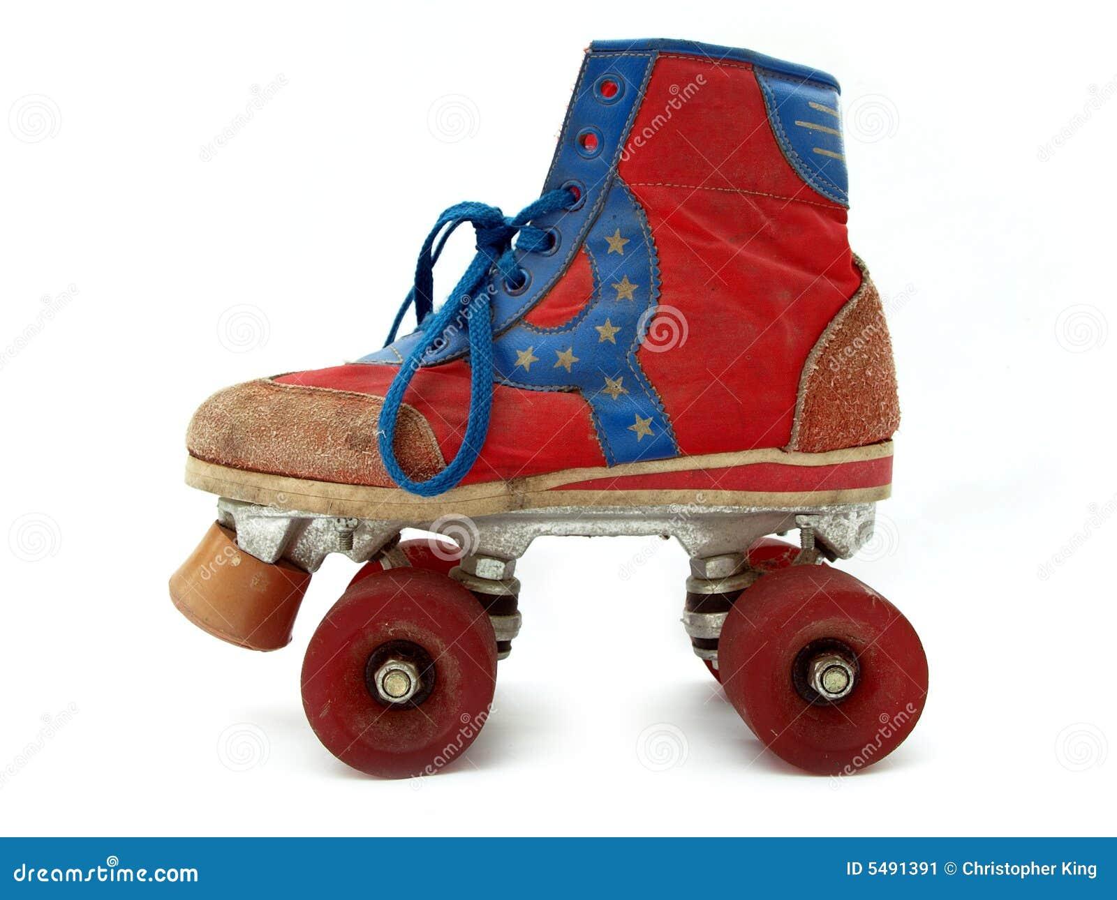 Roller skates vintage - Vintage Style Old Roller Skate Stock Image