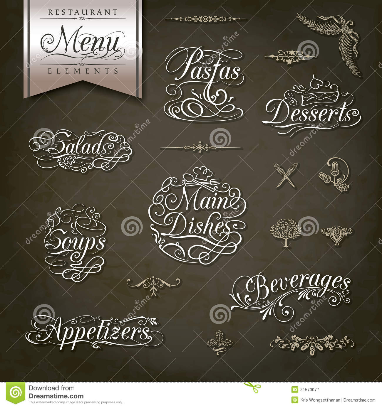 Vintage Style Restaurant Menu Designs Stock Vector - Image: 31570077