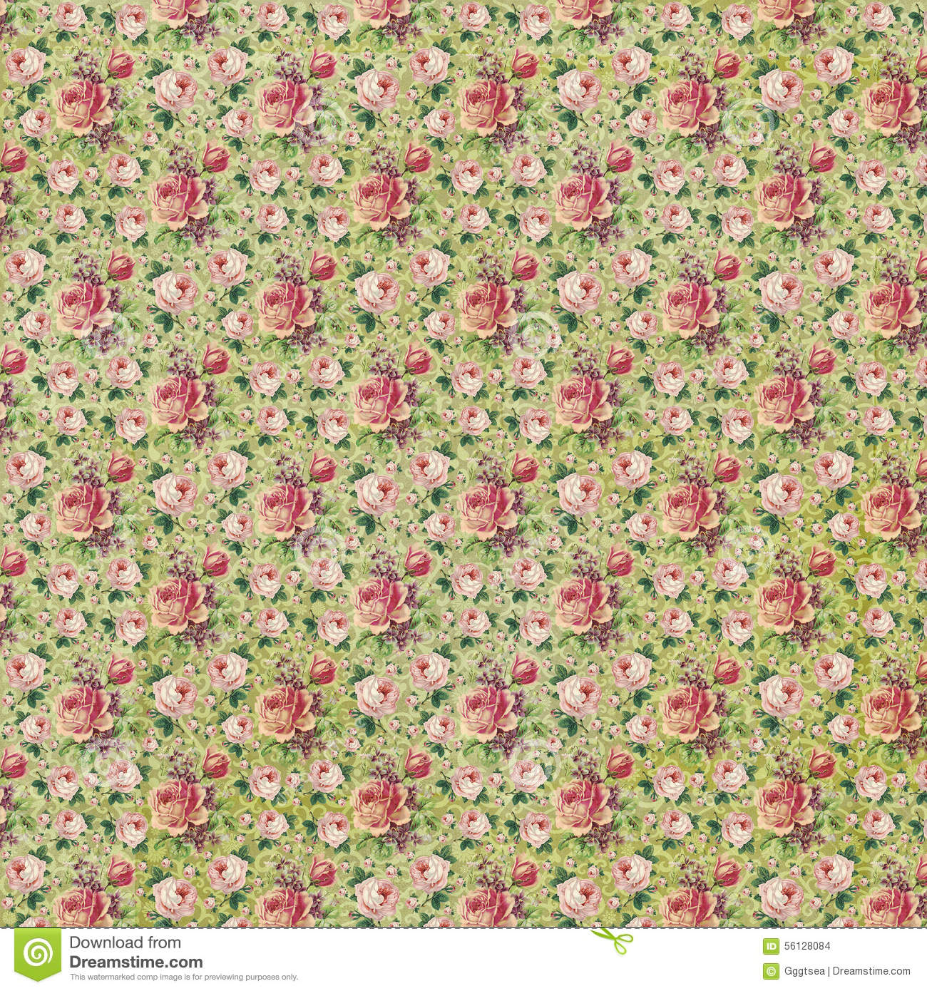 Vintage Style Roses Floral Paper Texture Stock Photo Image Of
