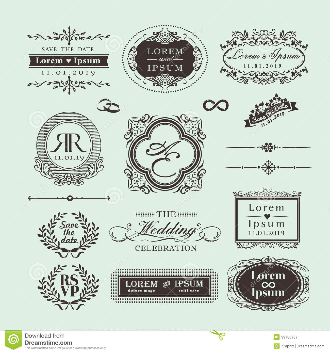 NEW VINTAGE MONOGRAM VECTOR FREE