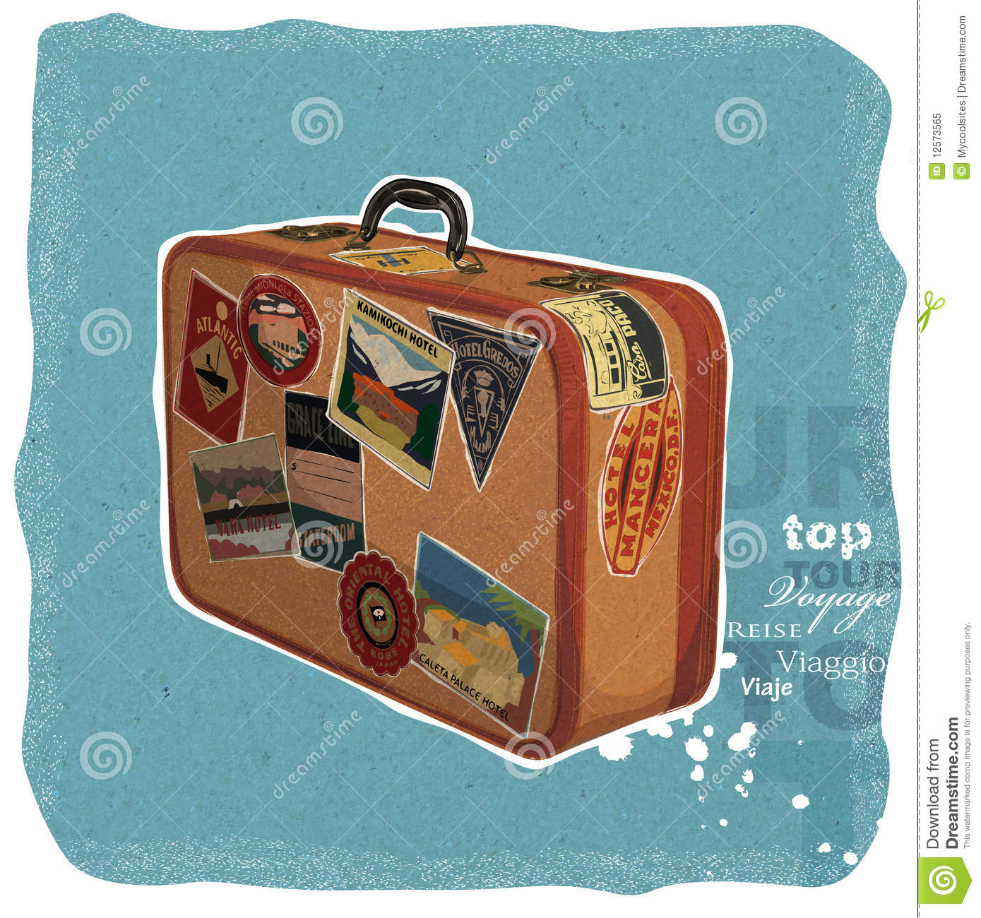 Vintage suitcase stock illustration image of luggage for The vintage suitcase