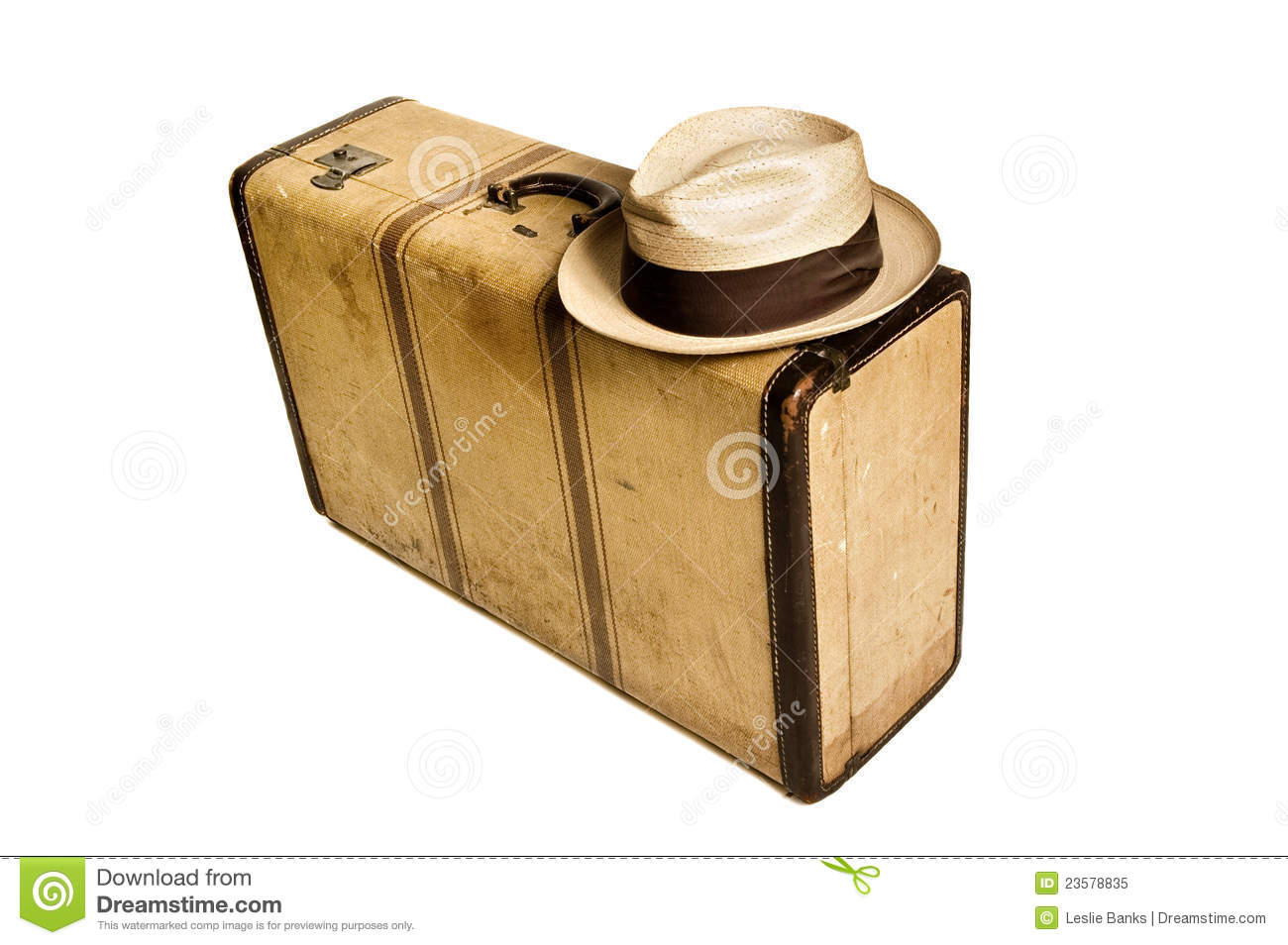 Vintage suitcase and hat stock image image of vintage for The vintage suitcase