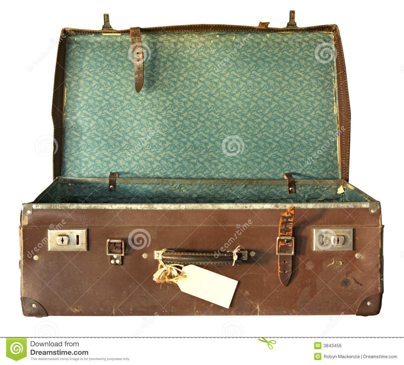 vintage suitcase open stock photo image of beaten vintage 3843456. Black Bedroom Furniture Sets. Home Design Ideas