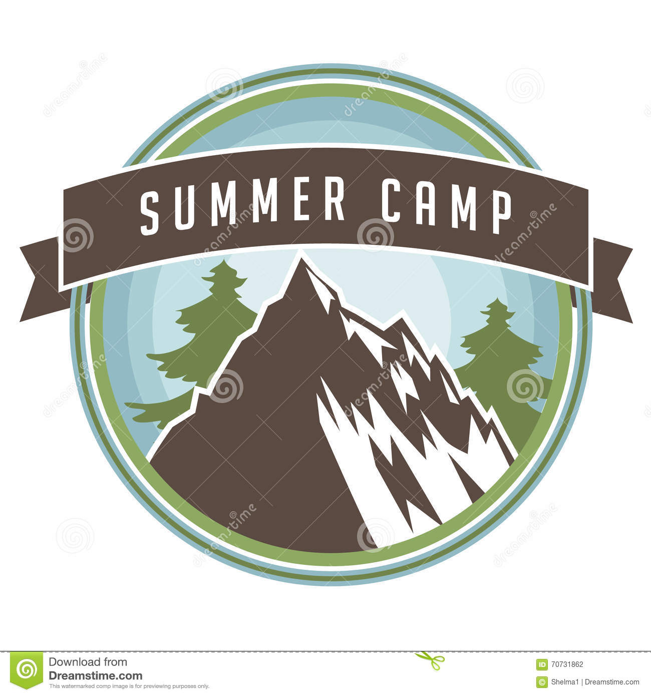 Poster design eps - Vintage Summer Camp Backpacking And Hiking Poster Design Stock Photography
