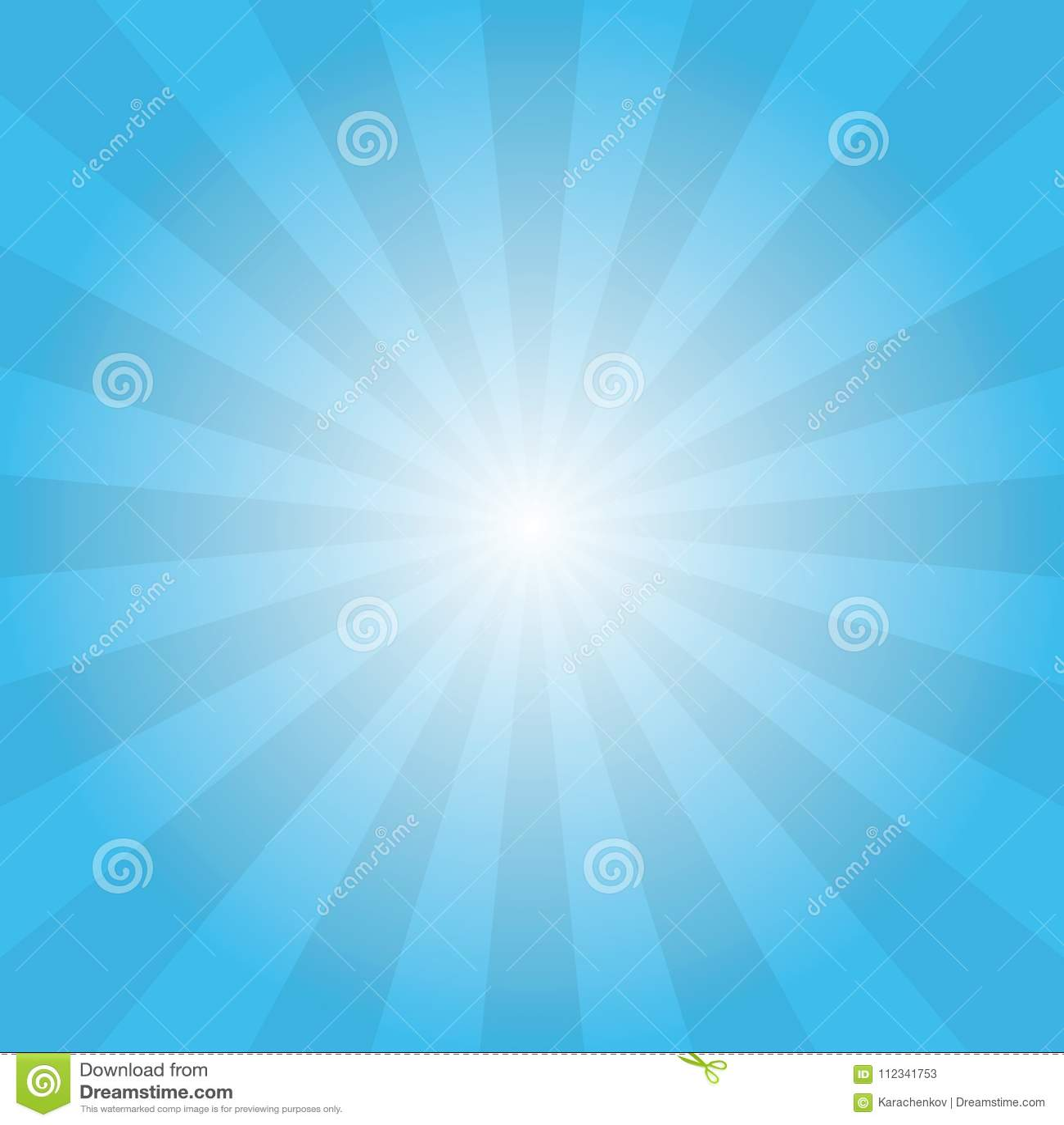 Vintage Sun Ays On Blue Sky Poster Background Stock Illustration
