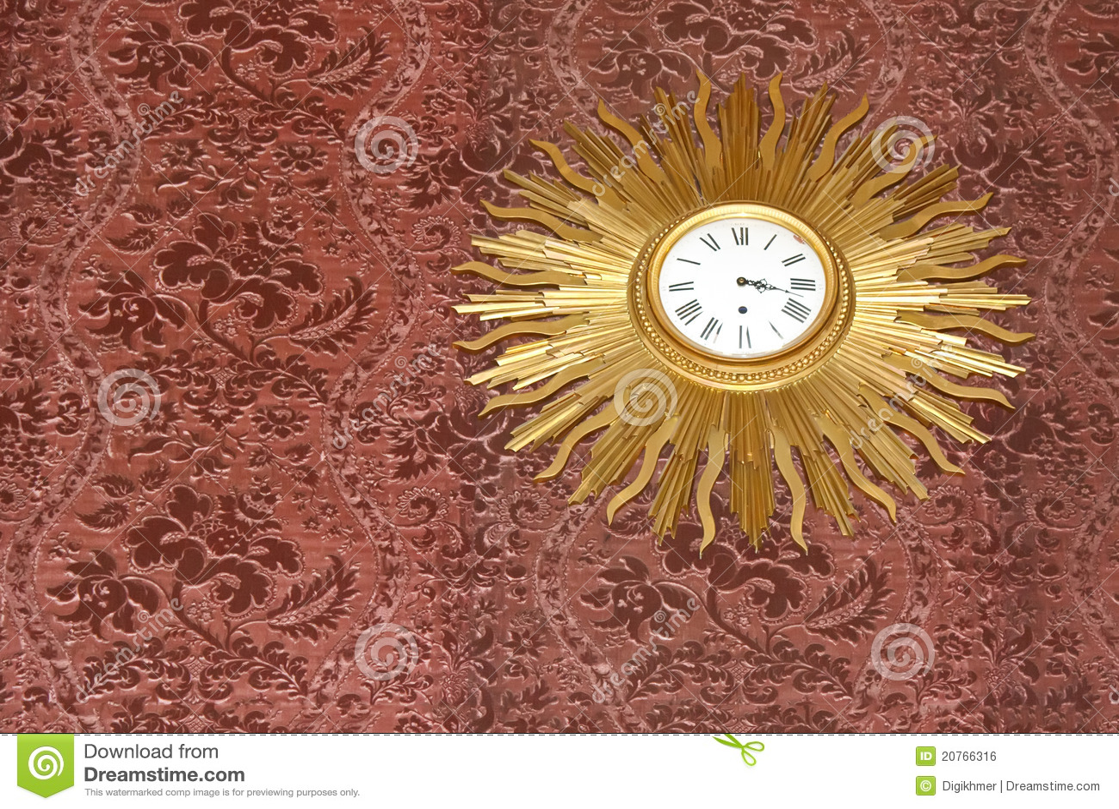 Vintage Sun Rays Clock