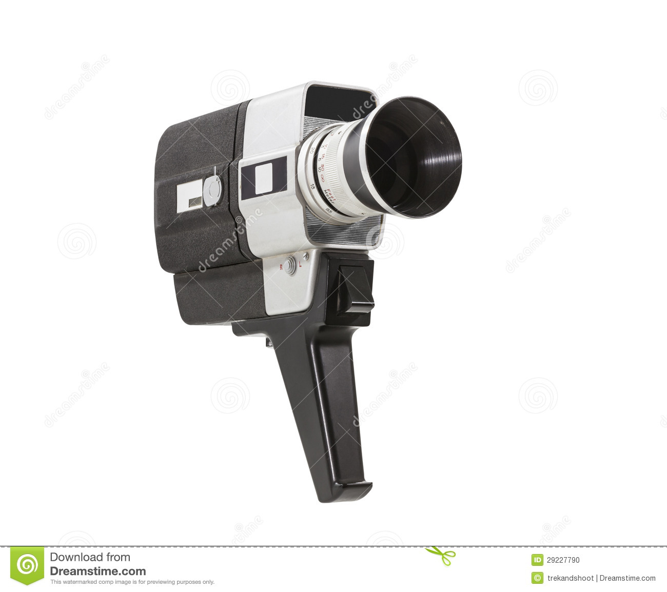 vintage super 8 camera isolated with clipping path stock photo image 29227790. Black Bedroom Furniture Sets. Home Design Ideas