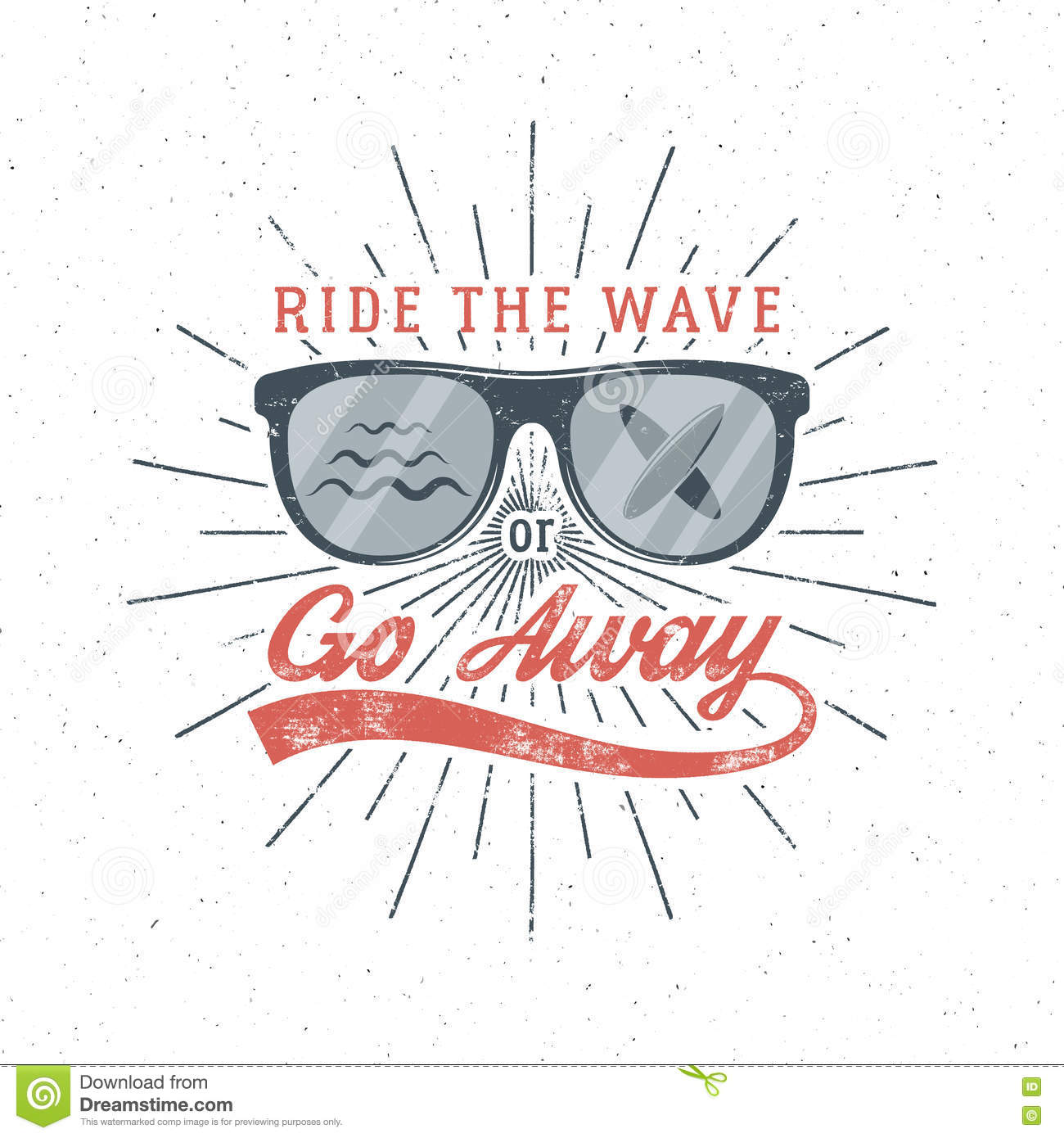 Vintage Surfing Graphics And Poster For Web Design Or Print Surfer Glasses Emblem Summer Beach Logo