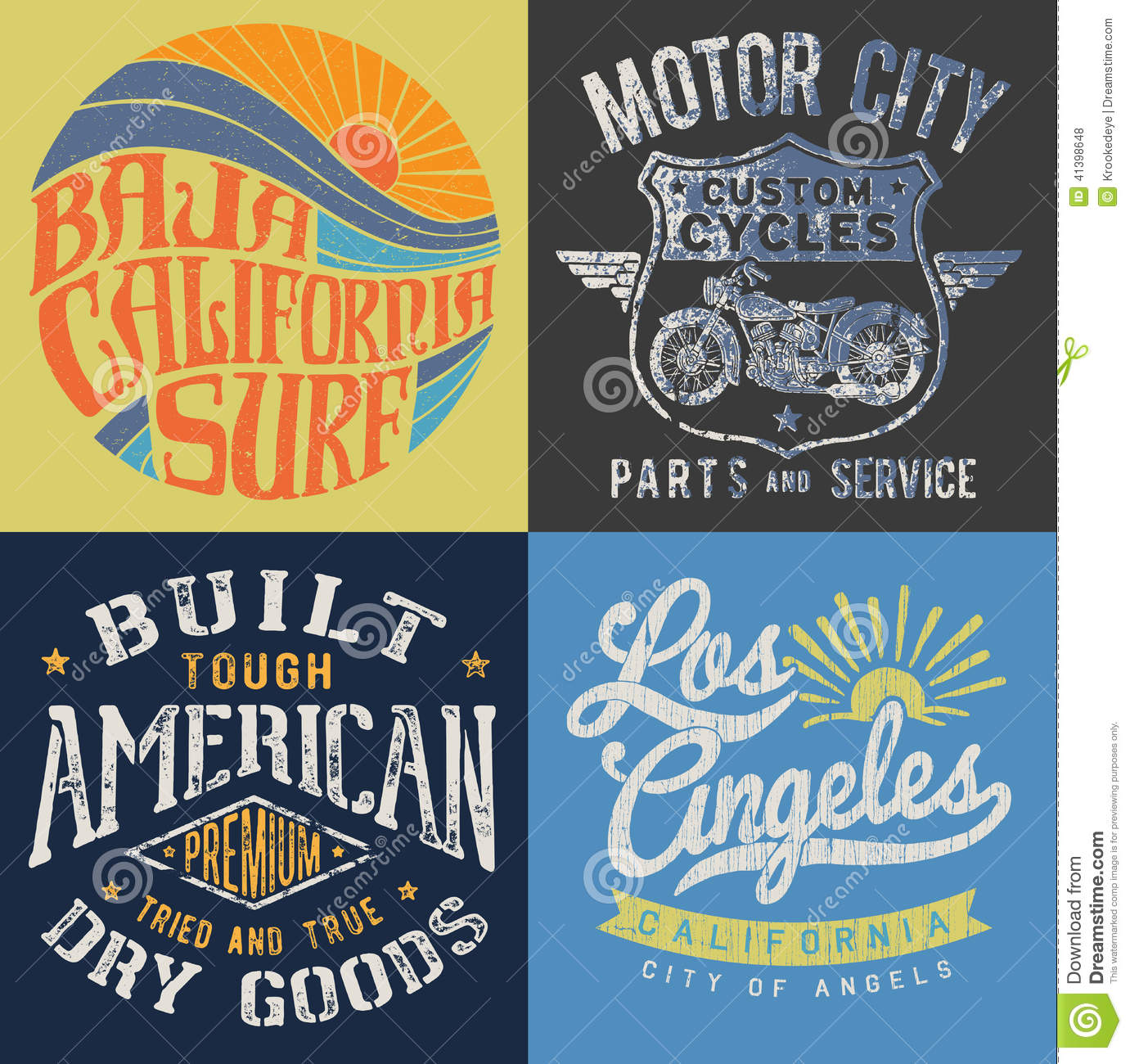 vintage t shirt graphic set 1 stock vector image 41398648 vector t shirt mock up vector t shirt mock up