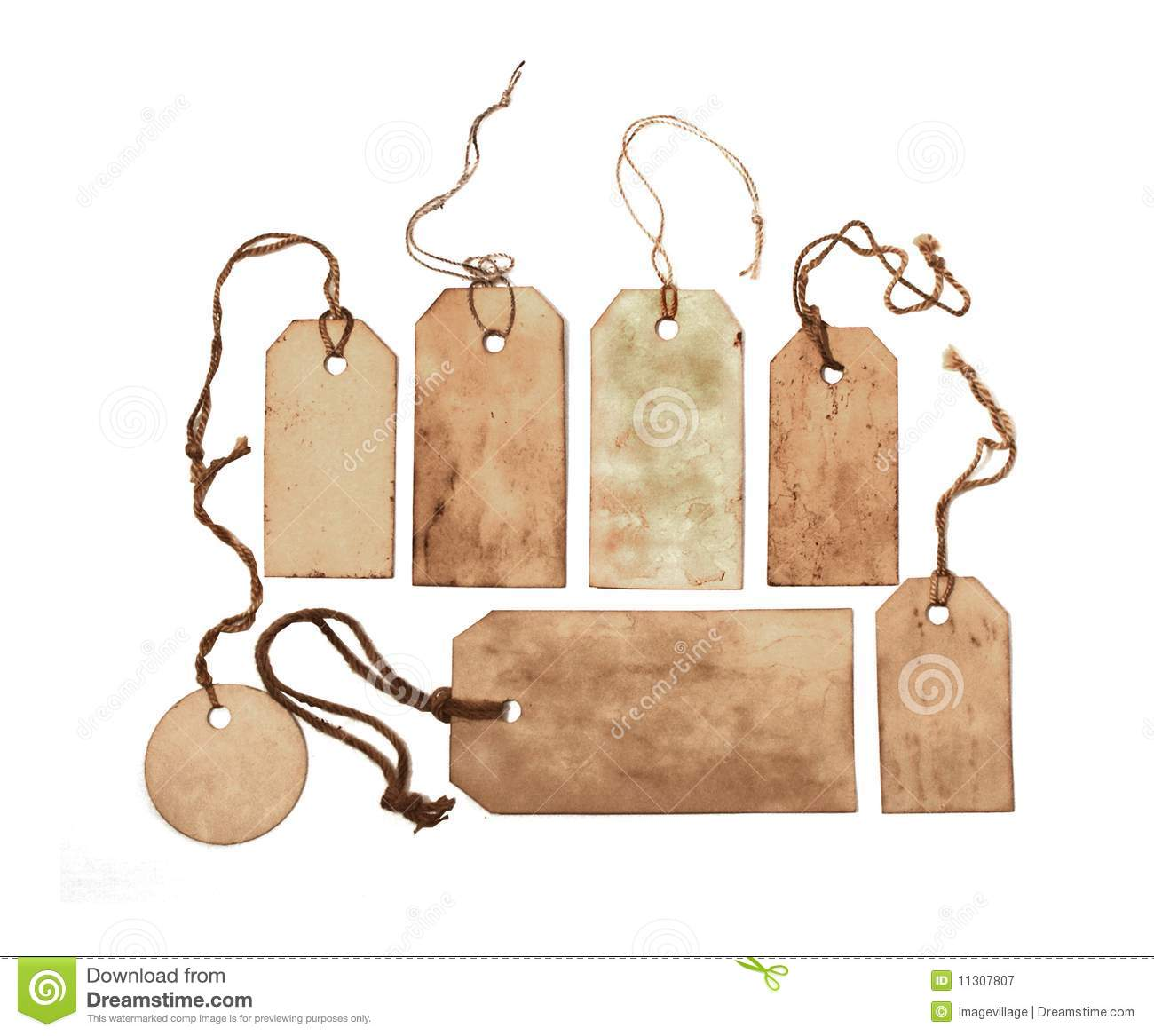 vintage tags stock image