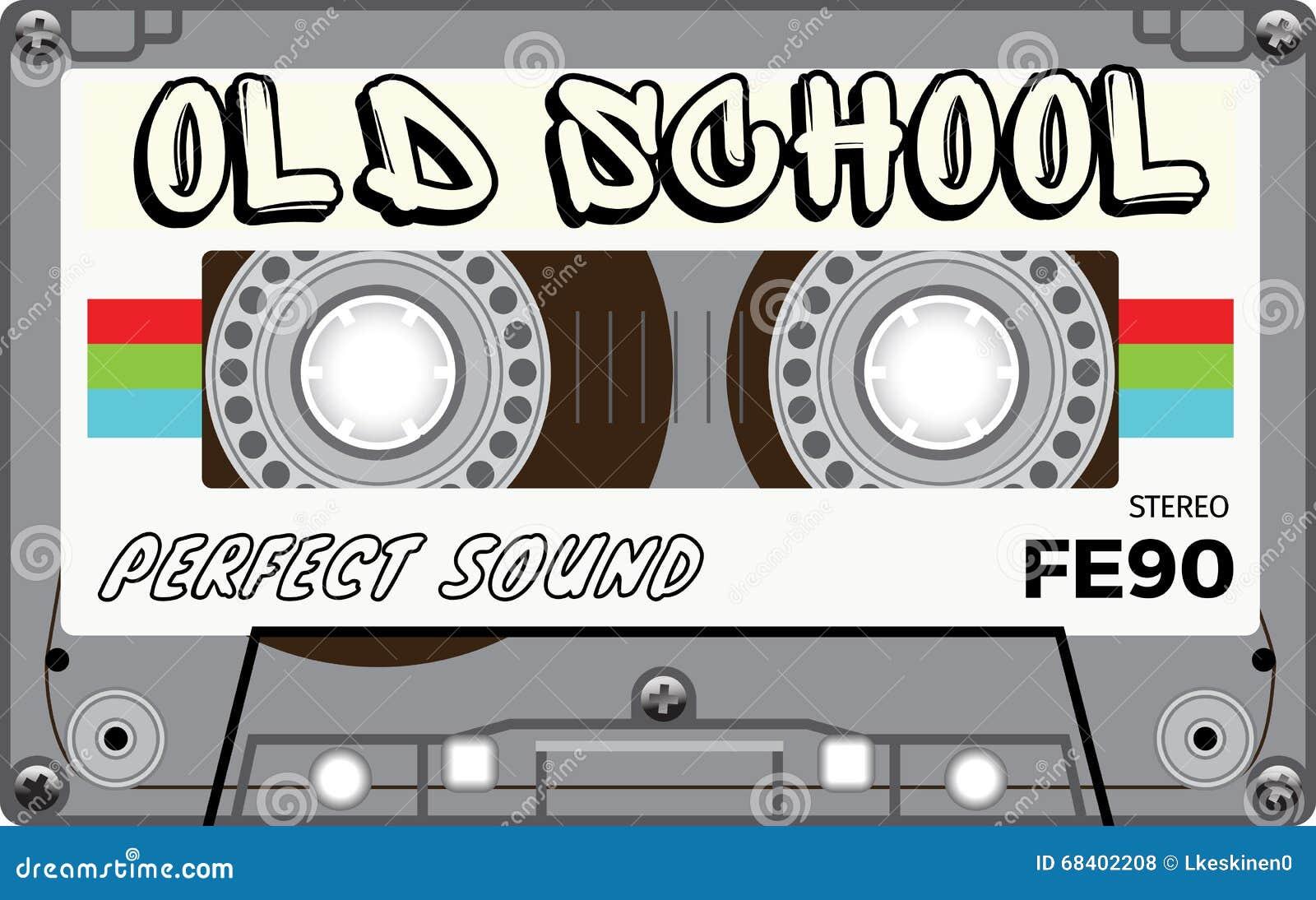 vintage old school cassette with name on it stock photo. Black Bedroom Furniture Sets. Home Design Ideas