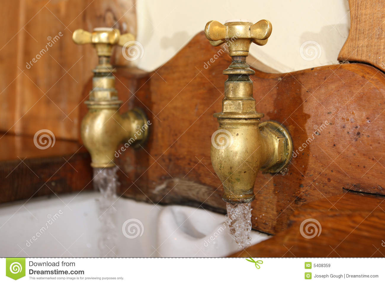 Vintage Taps stock image. Image of sink, rustic, style - 5408359