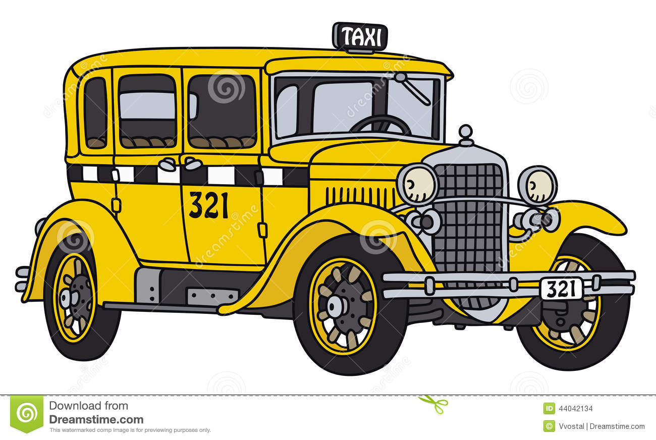 NYC Yellow Cab Taxi Printed Pillow | Etsy |Yellow Taxi Cab Drawing