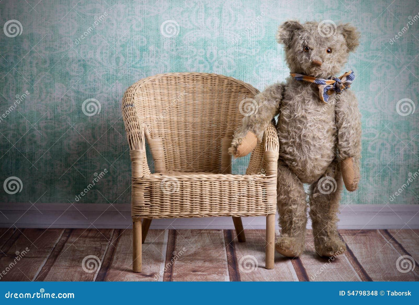 vintage teddy bear stock photo image of childhood adorable 54798348. Black Bedroom Furniture Sets. Home Design Ideas