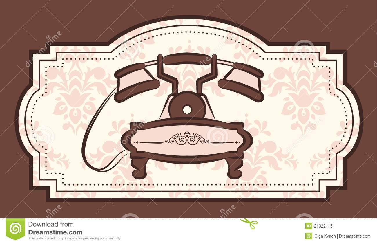 Vintage telephone illustration for a design Vintage Telephone Illustration