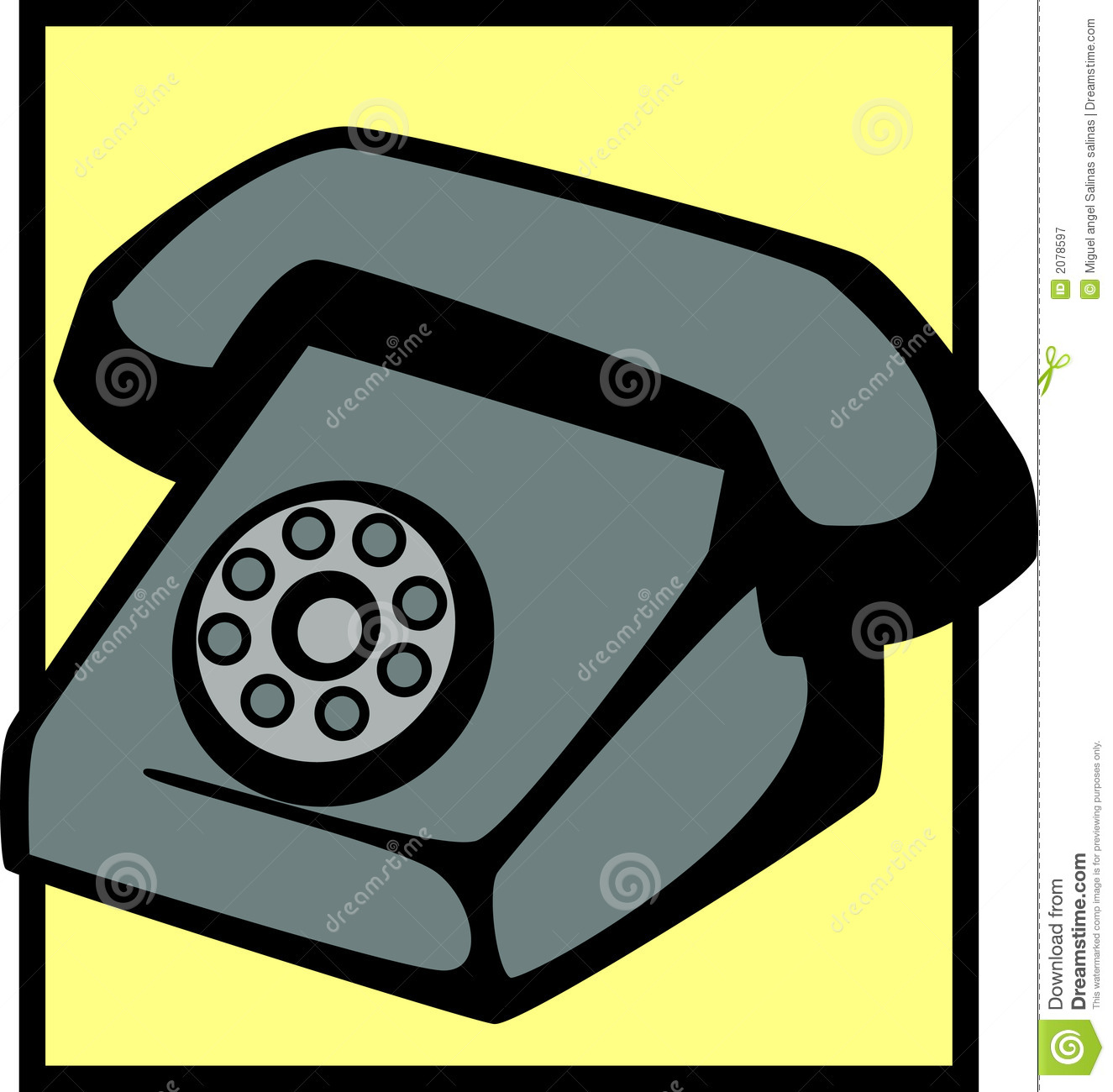 vintage telephone vector illustrationVintage Telephone Illustration